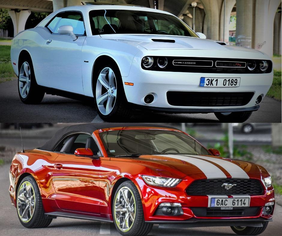 pozicaj Mustang alebo Dodge
