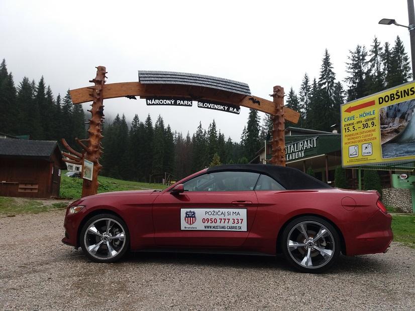 Prenájom Mustang Kabriolet Dobšinská ľadová jaskyňa
