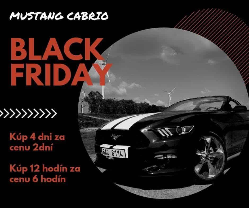 Prenajom Mustang Dodge Black Friday